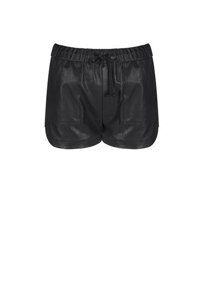 Leather short with mesh