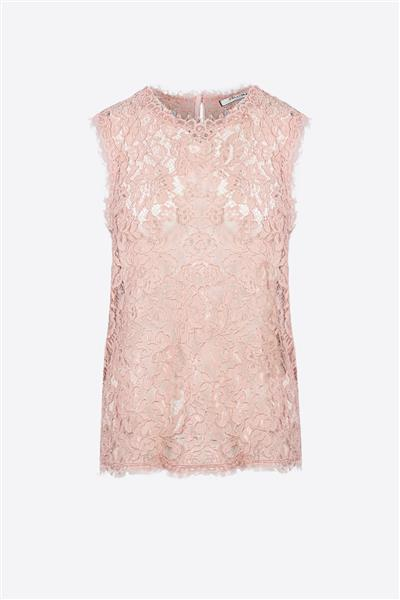 Nude pink lace top