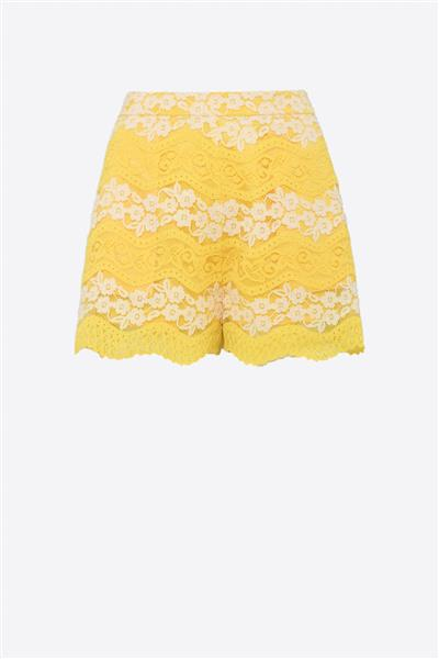 YELLOW LACE SKORT