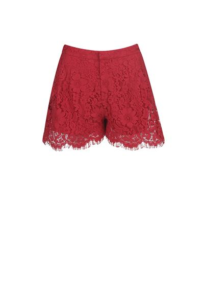 Red lace short