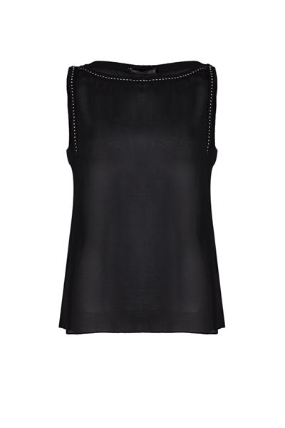 Studded chiffon sleveless top