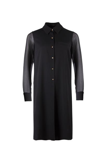 Chiffon shirt-dress