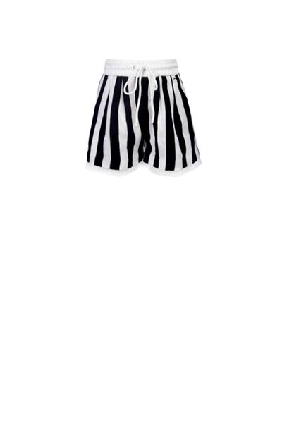Stripe shorts with lace