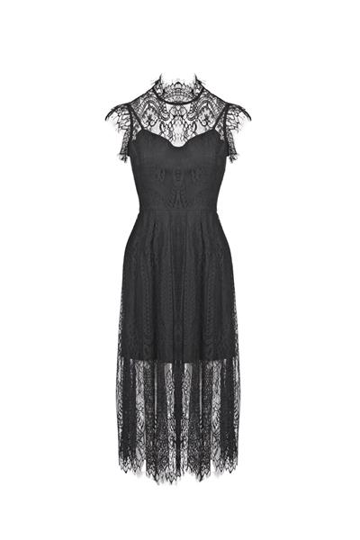 Corded lace flare dress