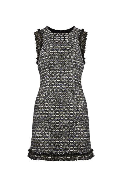 Light blue tweed dress sleeveless